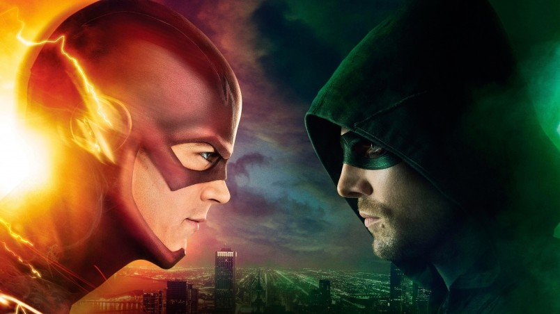 Flash vs Arrow wallpaper