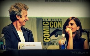 Doctor Who Peter Capaldi and Jenna Coleman at Comic Con wallpaper