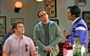 The Big Bang Theory Leonard, Raj and Nathan wallpaper