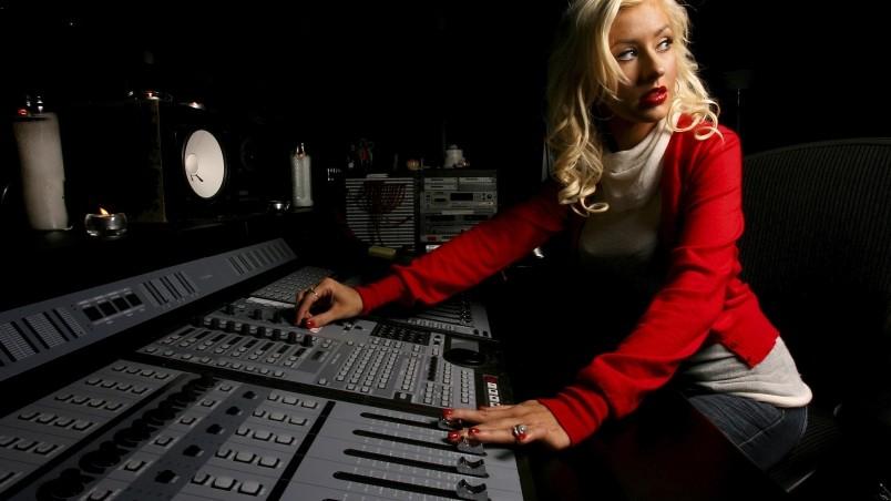 Christina Aguilera Music Studio HD Wallpaper