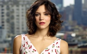 Katharine McPhee Cherry Dress wallpaper