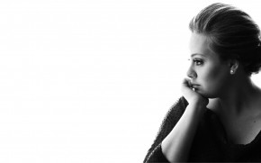 Adele Black and White wallpaper