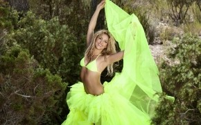 Shakira Green Tutu wallpaper