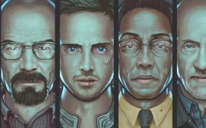 Breaking Bad Characters Artwork wallpaper