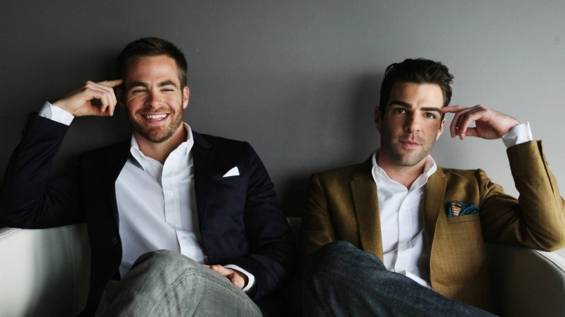 Chris Pine and Zachary Quinto wallpaper