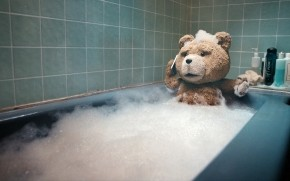Ted taking a Bath wallpaper