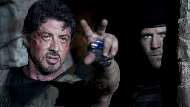 Stallone and Statham in Expendables wallpaper