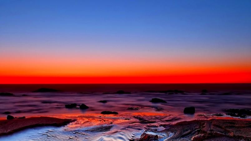 Beautiful Red Sunset Hd Wallpaper Wallpaperfx