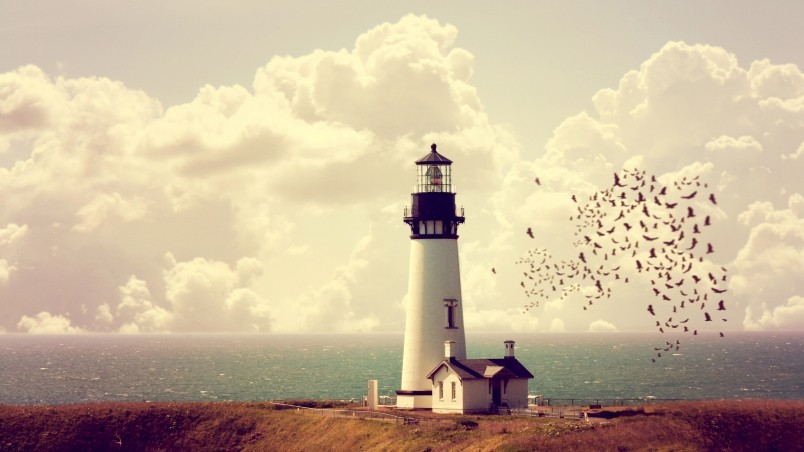 Vintage Light House wallpaper