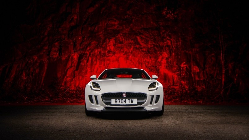 F Type Coupe >> Jaguar F Type White HD Wallpaper - WallpaperFX