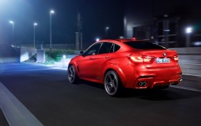 Red BMW X6 2016 wallpaper
