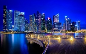 Singapore Sky Towers wallpaper