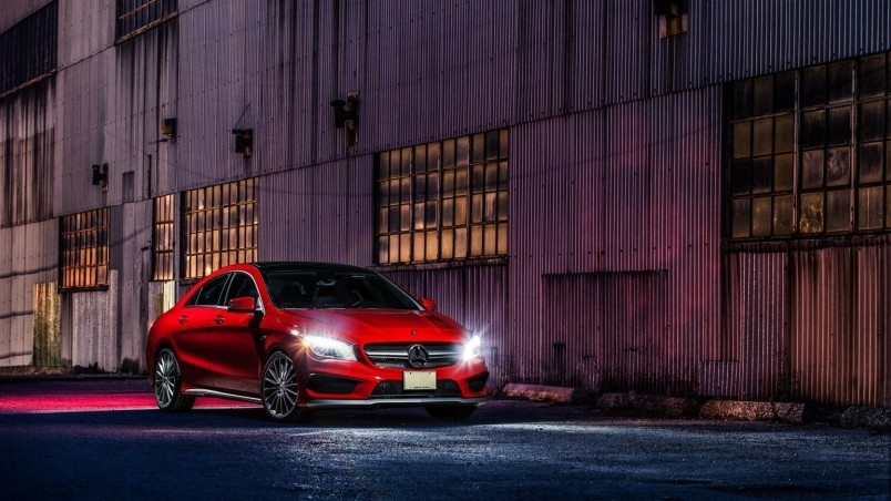 Mercedes Benz Cla >> Red CLA 45 AMG HD Wallpaper - WallpaperFX
