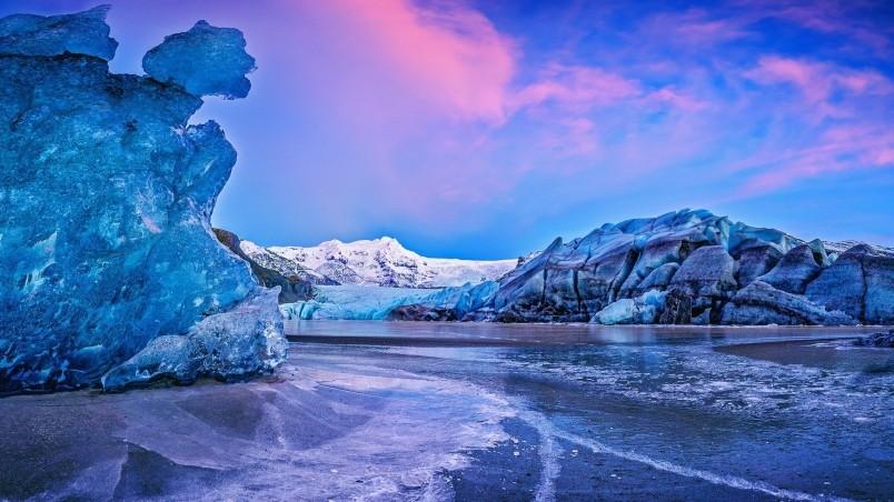 Vatna Glacier Icelend wallpaper
