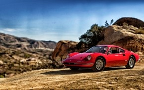 1969 Red Ferrari Dino 246 GT wallpaper