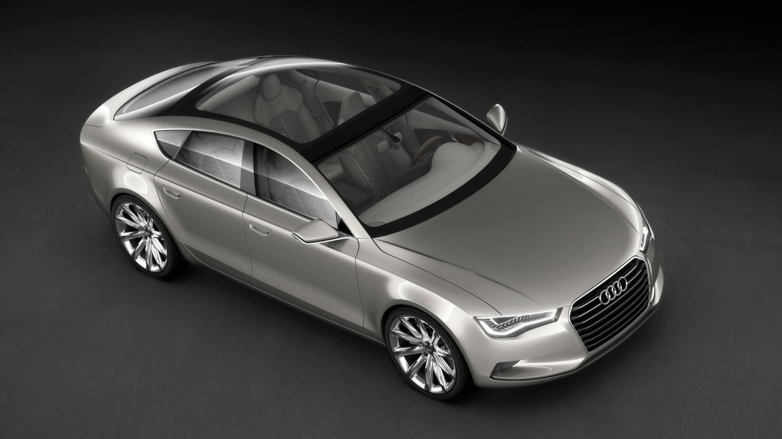 2009 Audi Sportback Concept - Front And Side Top for 1536 x 864 HDTV resolution