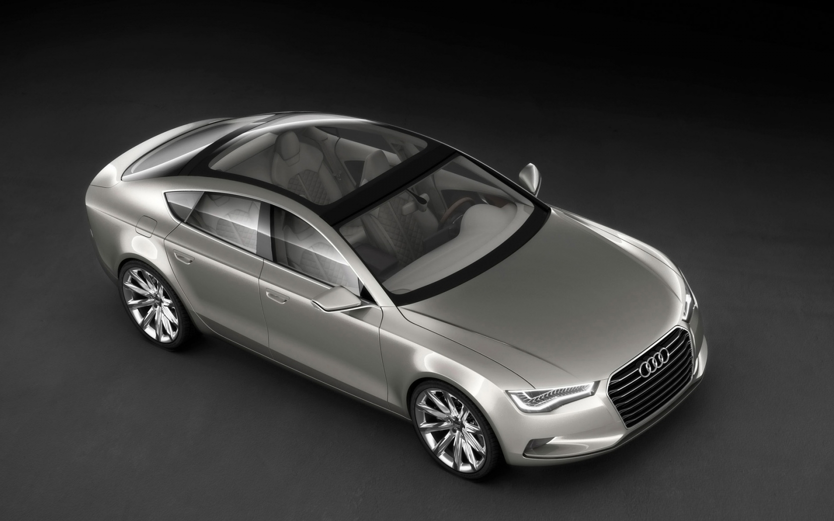 2009 Audi Sportback Concept - Front And Side Top for 1680 x 1050 widescreen resolution