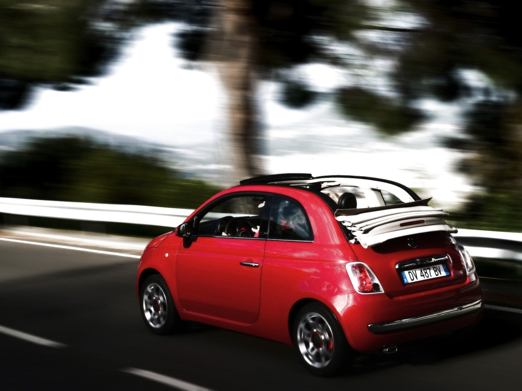 2010 Fiat 500C Speed for 1024 x 768 resolution