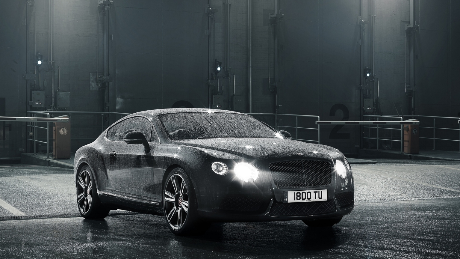 2012 Bentley Continental GT V8 for 1536 x 864 HDTV resolution