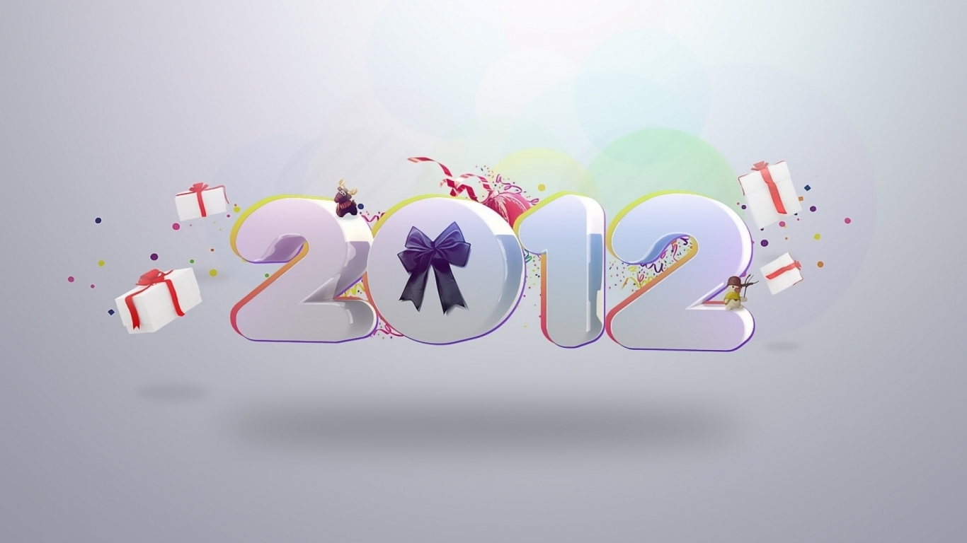 2012 Year Celebration for 1366 x 768 HDTV resolution
