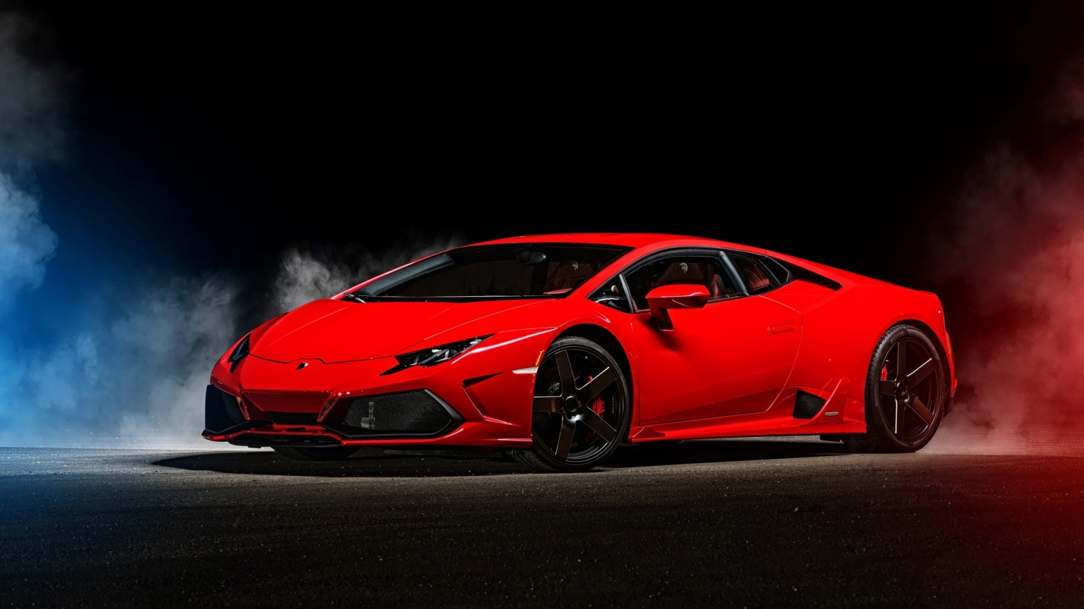 2015 Red Lamborghini Huracan for 1536 x 864 HDTV resolution