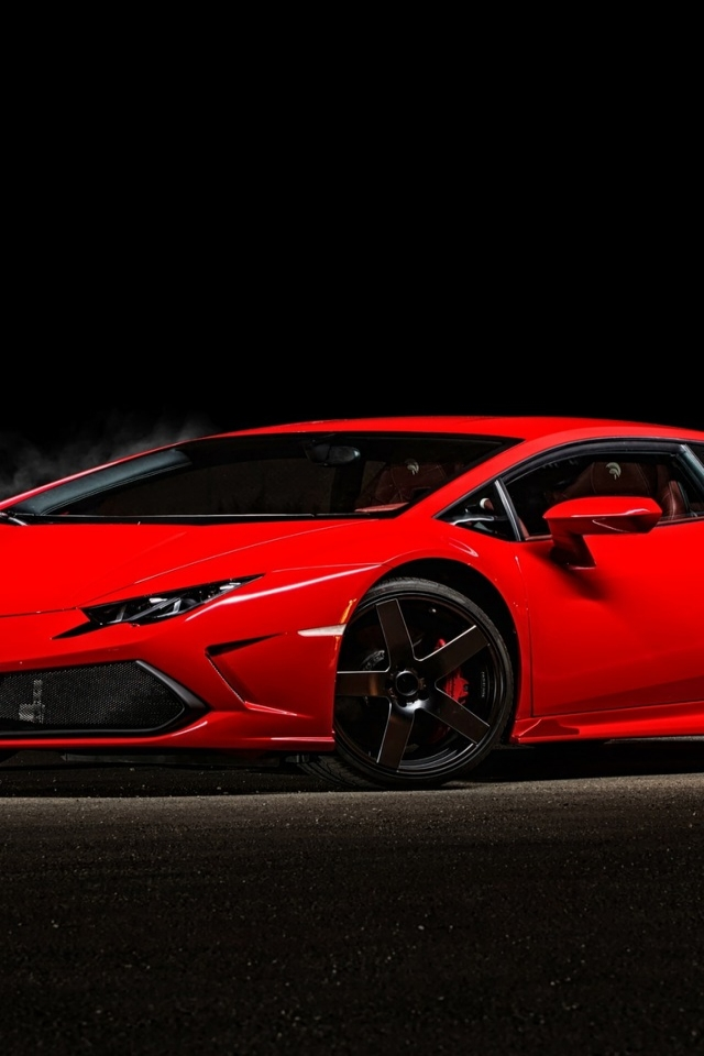 2015 Red Lamborghini Huracan for 640 x 960 iPhone 4 resolution