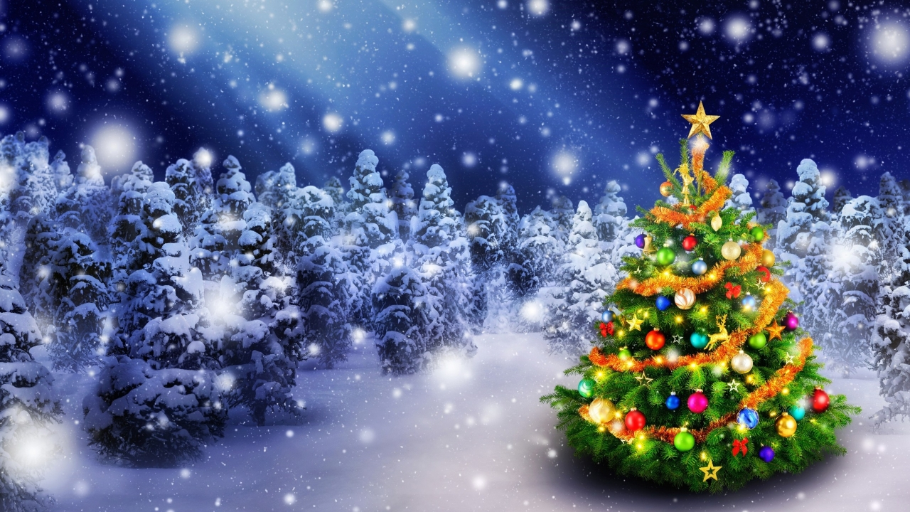 2016 Christmas Tree for 1280 x 720 HDTV 720p resolution
