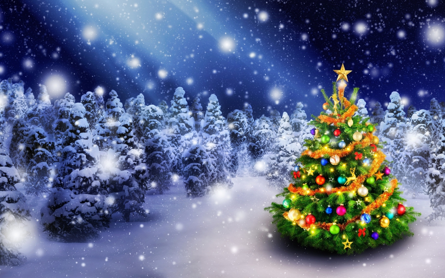 2016 Christmas Tree for 1440 x 900 widescreen resolution