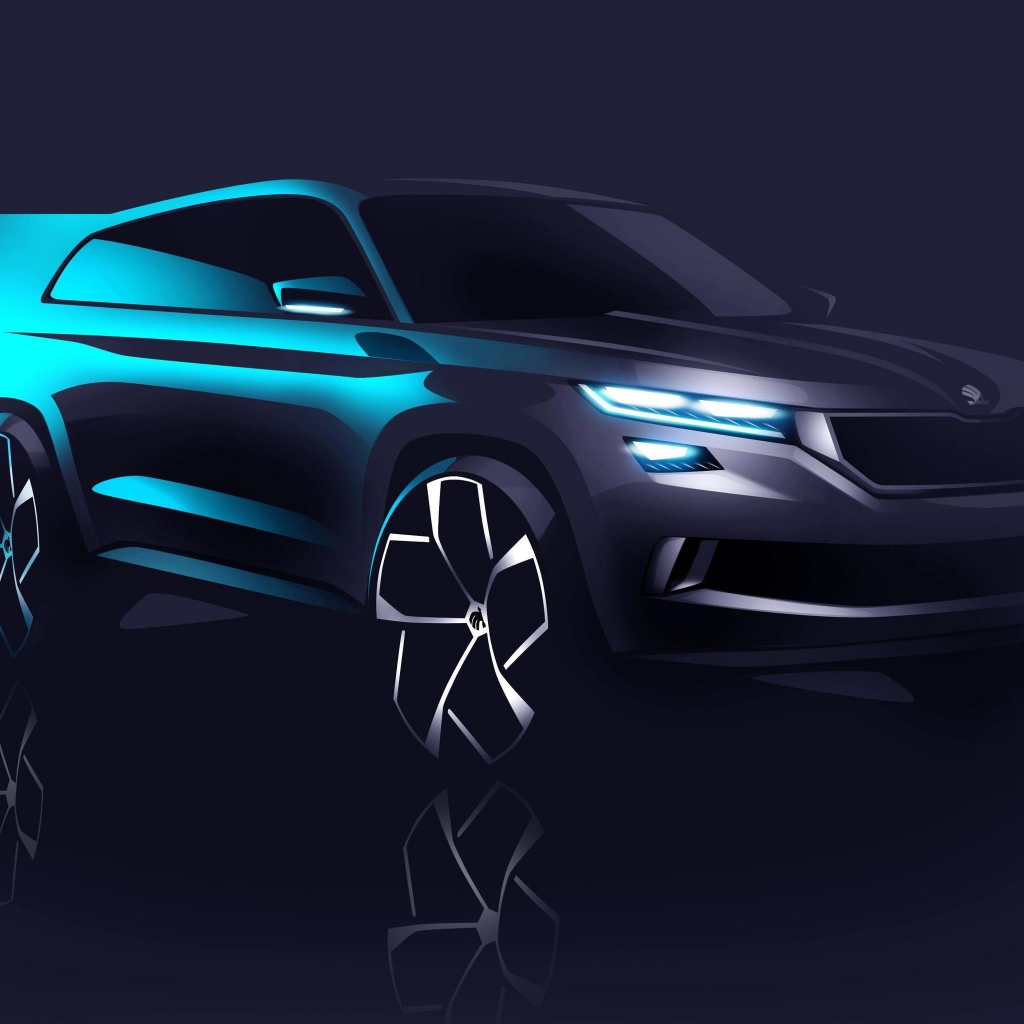 2016 Skoda Visions Concept for 1024 x 1024 iPad resolution