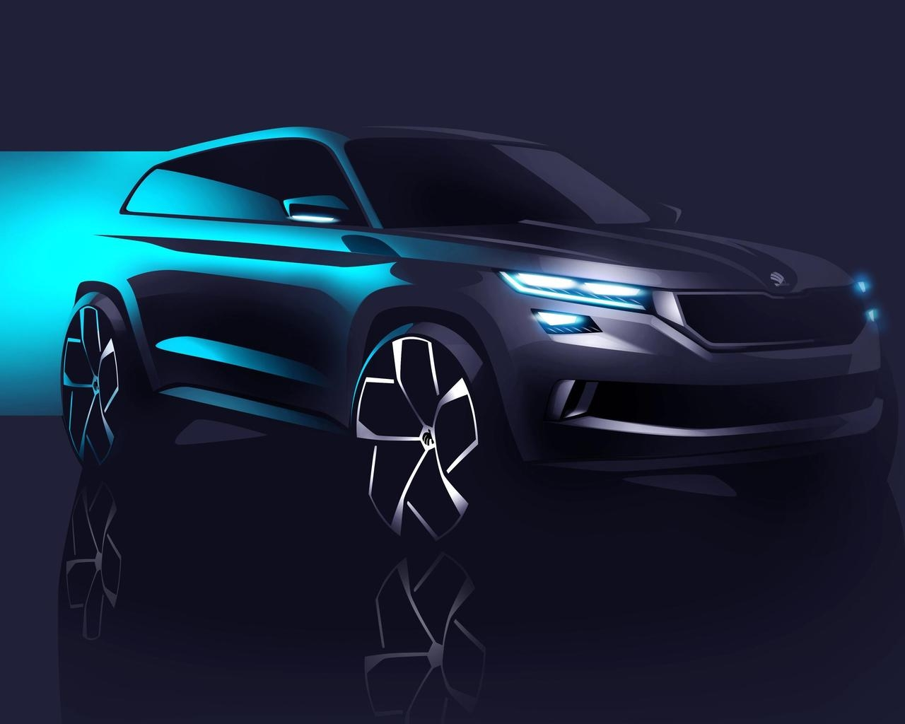 2016 Skoda Visions Concept for 1280 x 1024 resolution