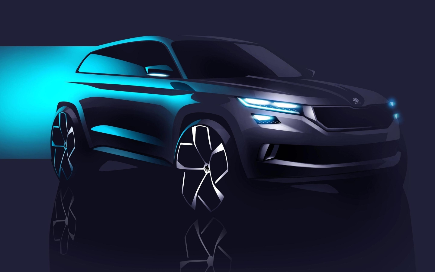 2016 Skoda Visions Concept for 1440 x 900 widescreen resolution