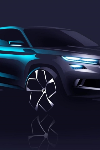 2016 Skoda Visions Concept for 320 x 480 iPhone resolution