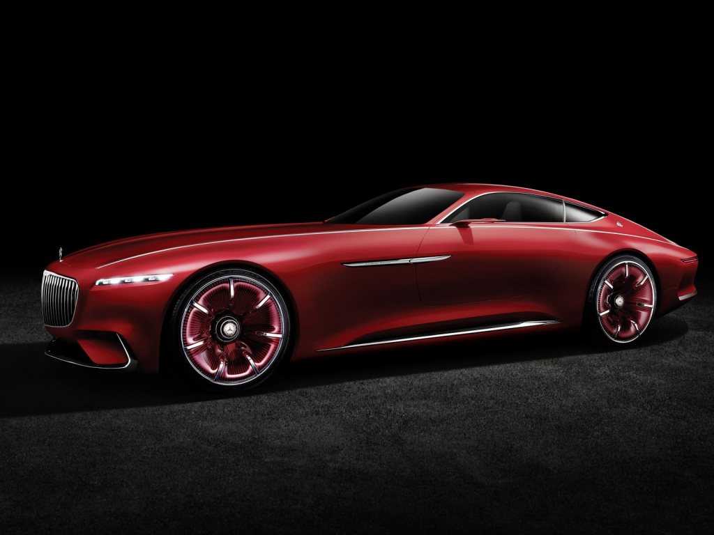 2016 Vision Mercedes Maybach 6 Side View for 1024 x 768 resolution