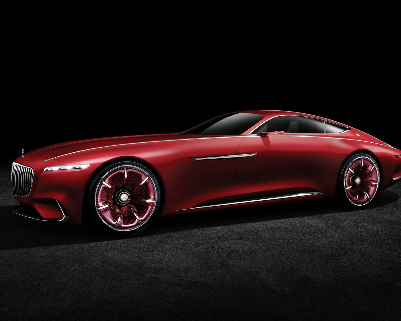 2016 Vision Mercedes Maybach 6 Side View for 1280 x 1024 resolution