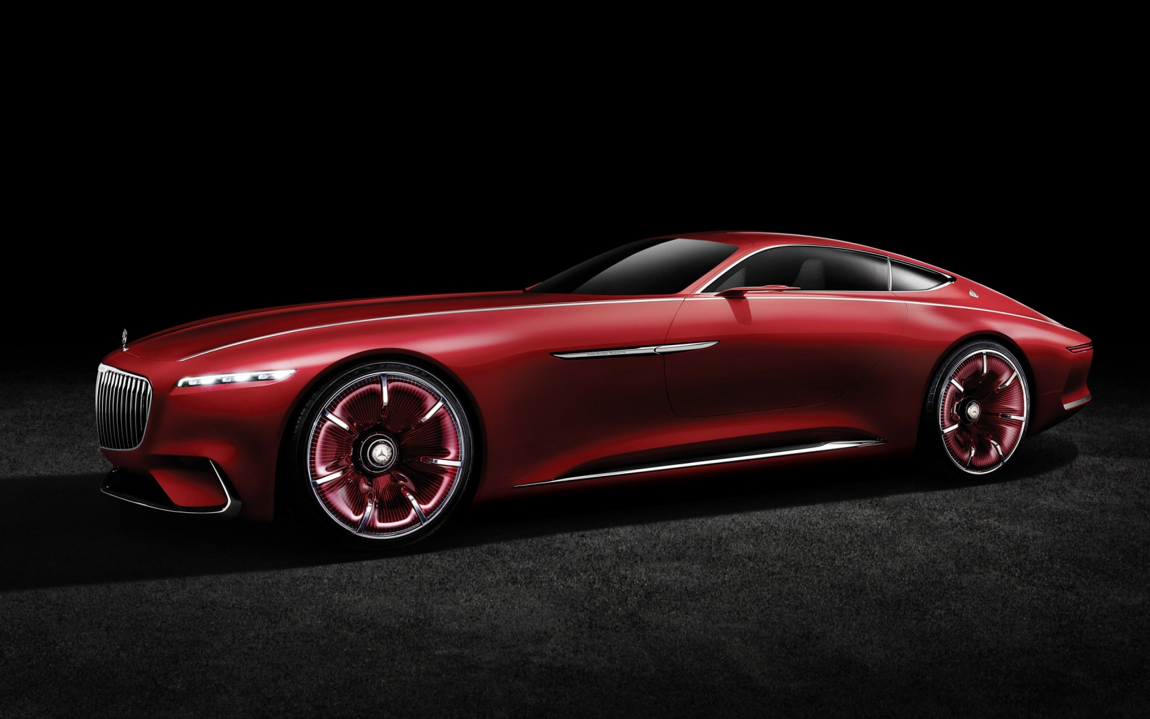 2016 Vision Mercedes Maybach 6 Side View for 1680 x 1050 widescreen resolution