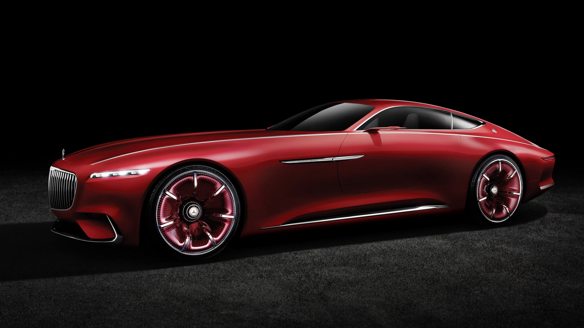 2016 Vision Mercedes Maybach 6 Side View for 1920 x 1080 HDTV 1080p resolution