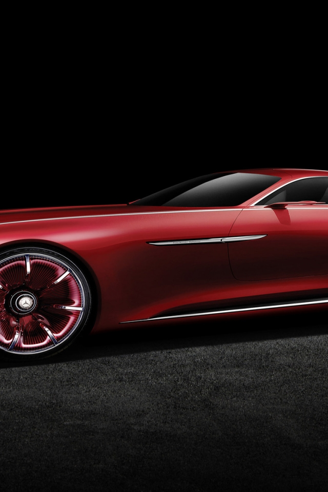 2016 Vision Mercedes Maybach 6 Side View for 640 x 960 iPhone 4 resolution