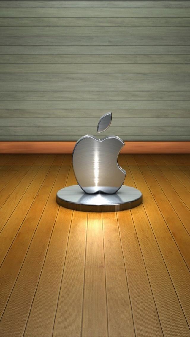 3d Apple Logo 640 X 1136 Iphone 5 Wallpaper