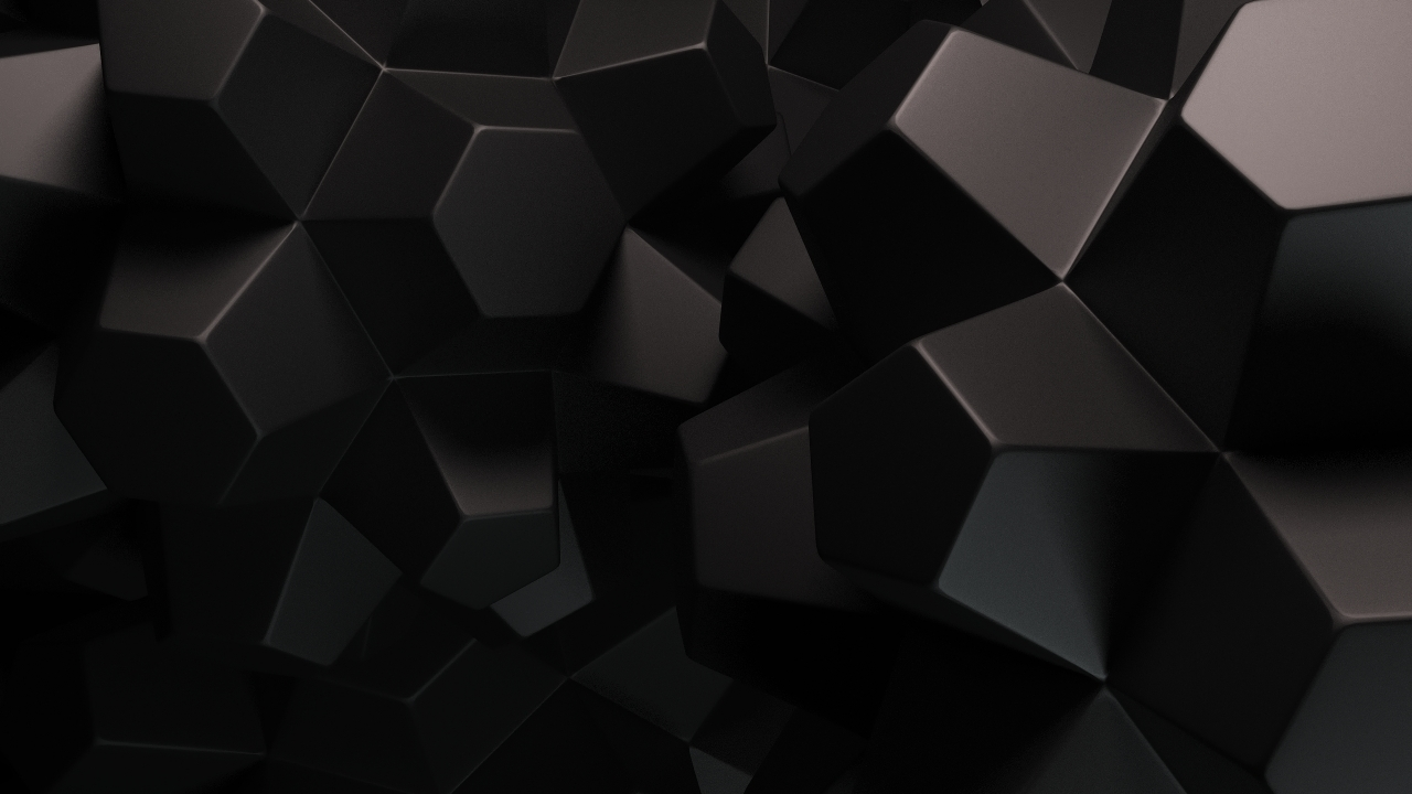 3D Black Polygons 1280 X 720 HDTV 720p Wallpaper