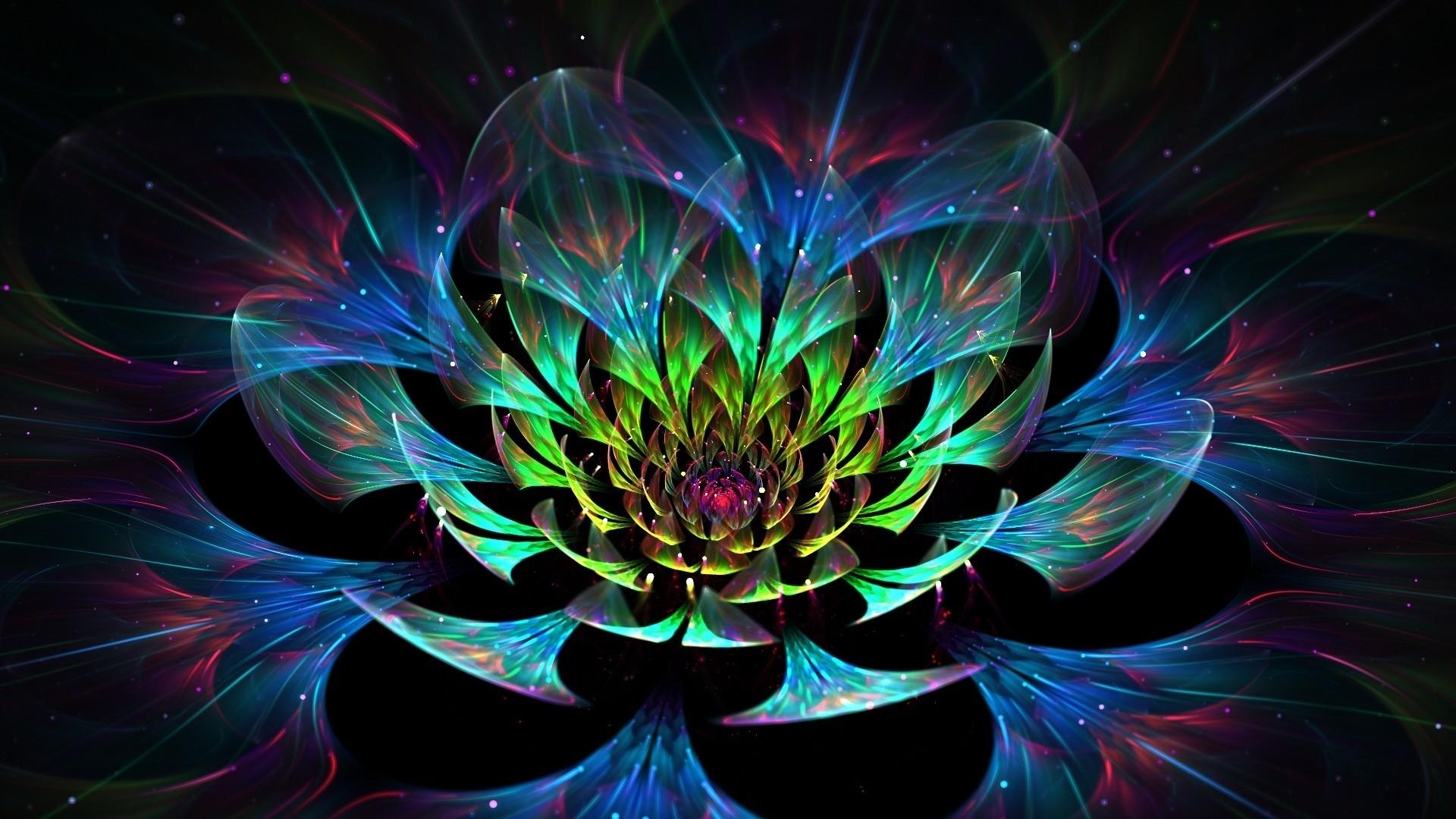 3D Lotus Flower 1920 x 1080 HDTV 1080p Wallpaper