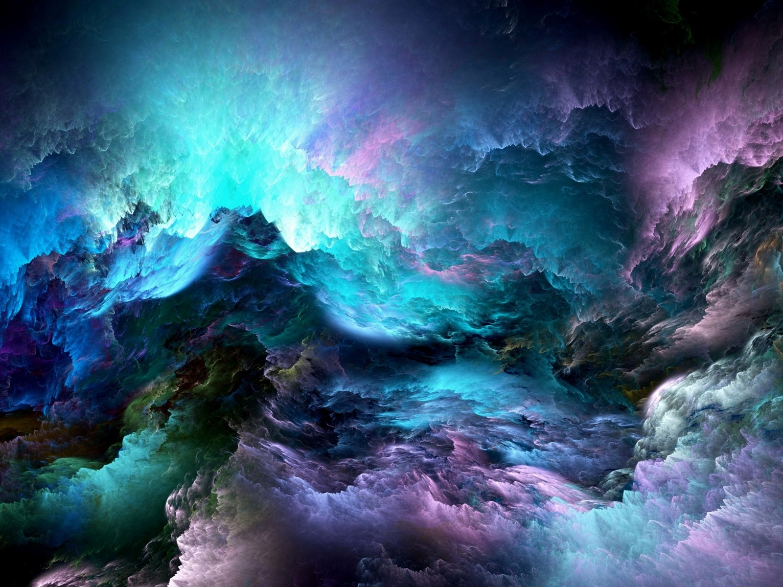 Abstract Colorful Clouds for 1600 x 1200 resolution
