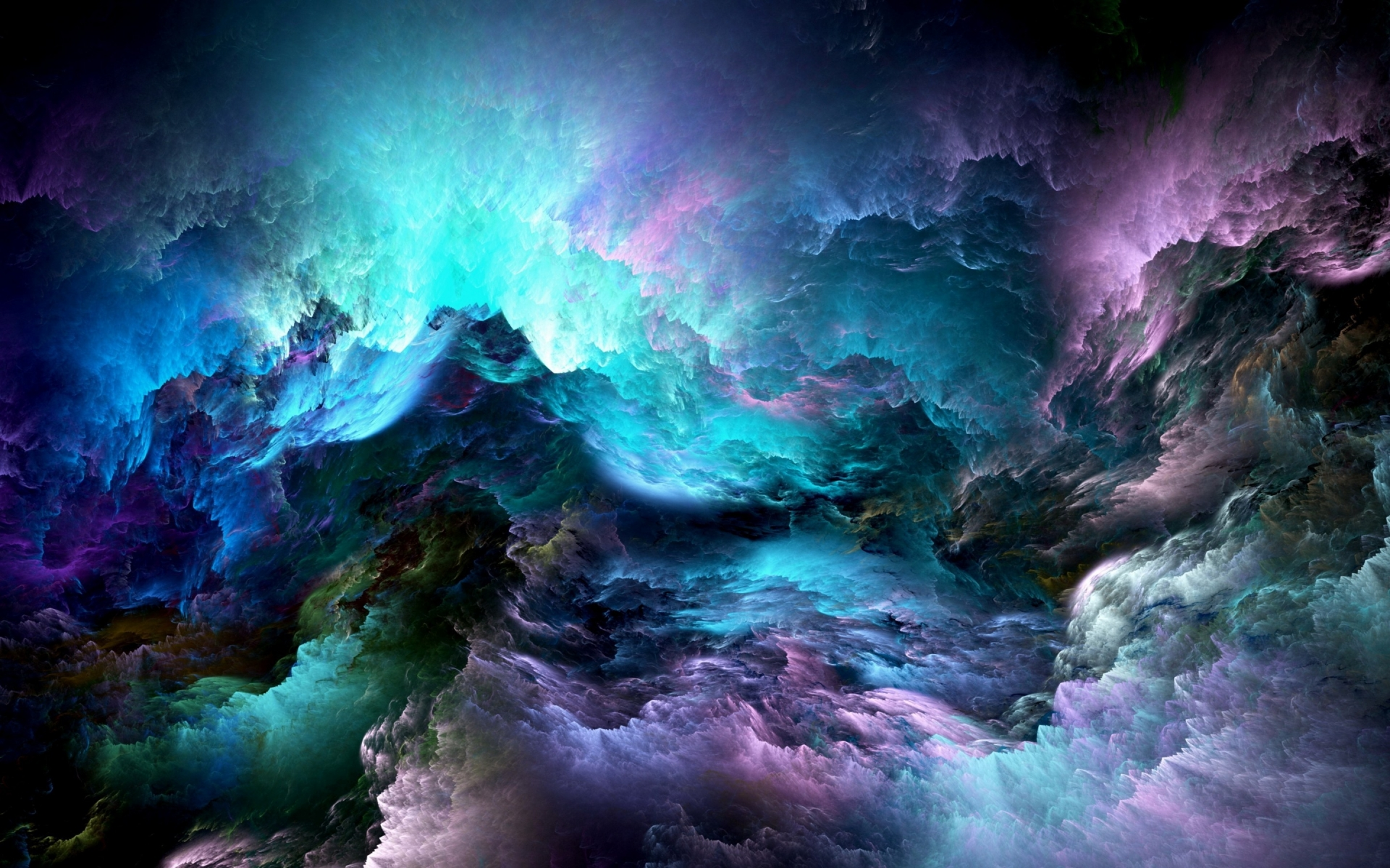 Abstract Colorful Clouds for 1920 x 1200 widescreen resolution
