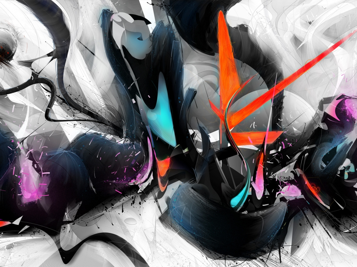 Abstract Colourful Design for 1152 x 864 resolution