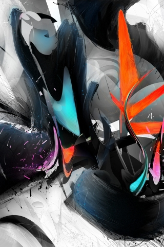 Abstract Colourful Design for 320 x 480 iPhone resolution