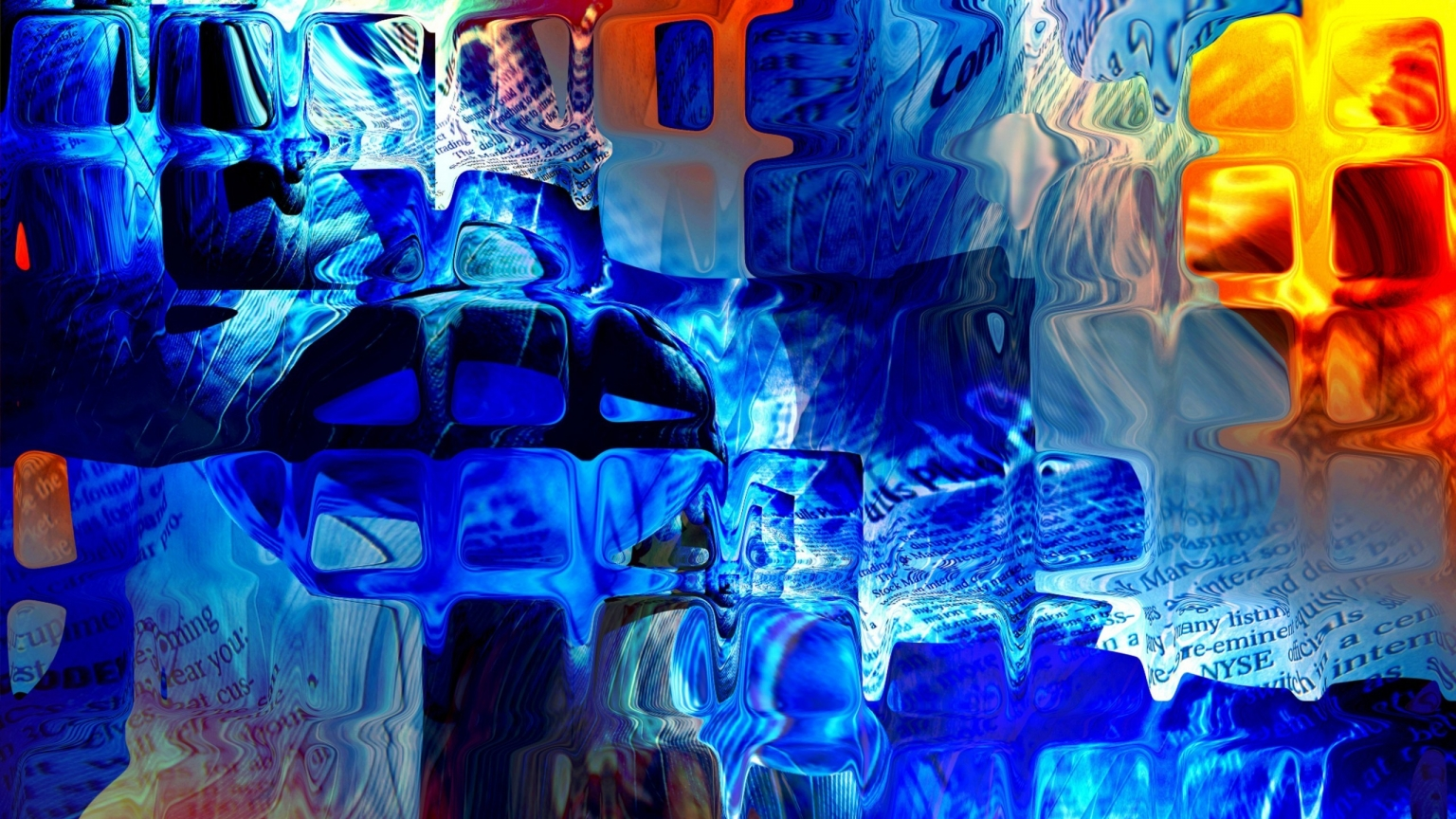 Abstract Glass Paint for 1536 x 864 HDTV resolution