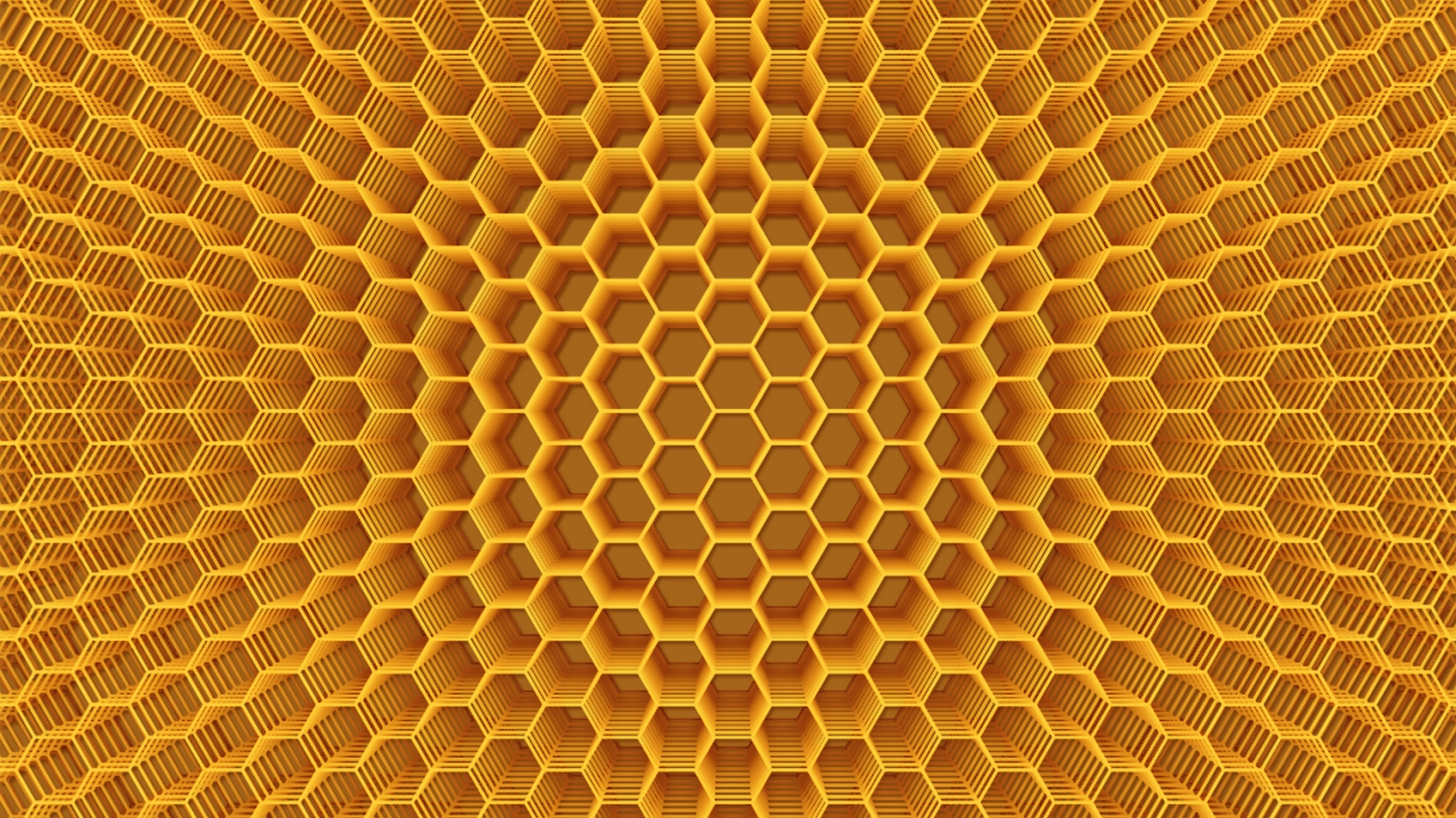 Abstract Honeycomb Structure for 1680 x 945 HDTV resolution