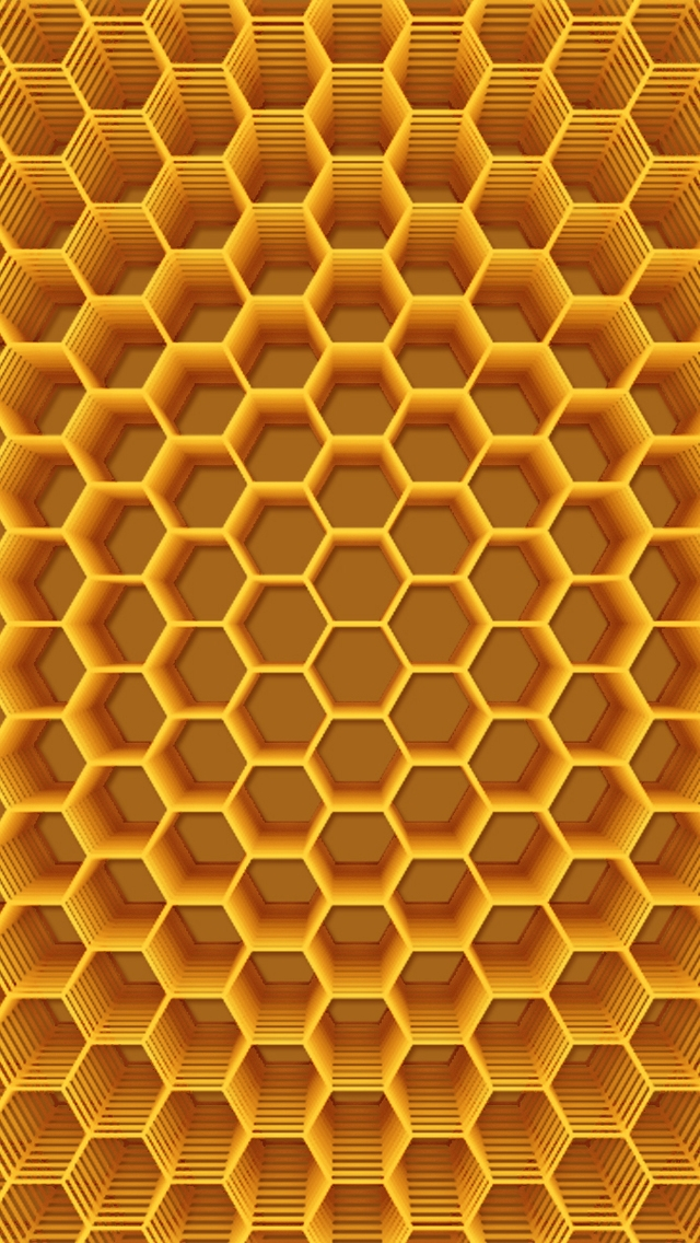 Abstract Honeycomb Structure for 640 x 1136 iPhone 5 resolution