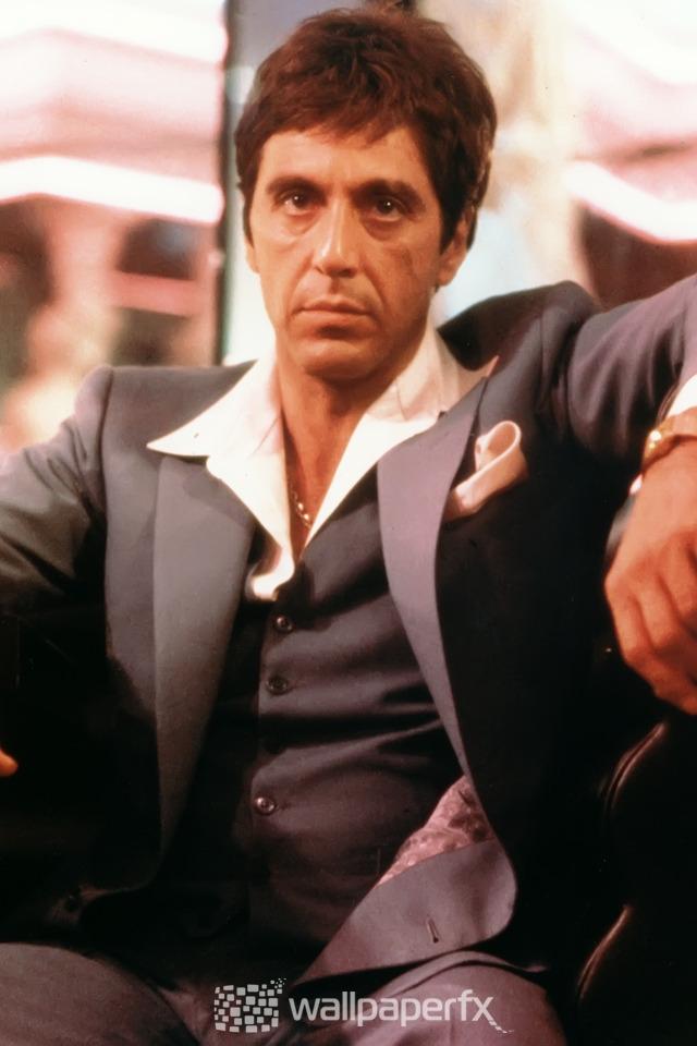 Al Pacino Scarface 640 X 960 Iphone 4 Wallpaper
