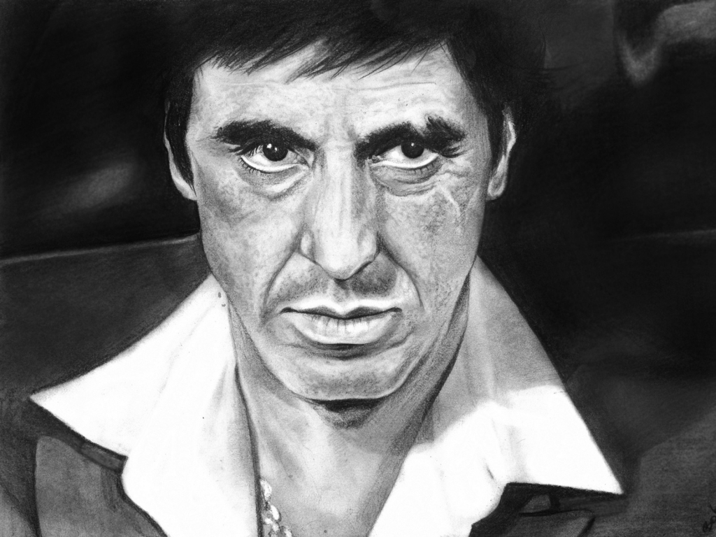 Al Pacino Scarface Fan Art for 1024 x 768 resolution