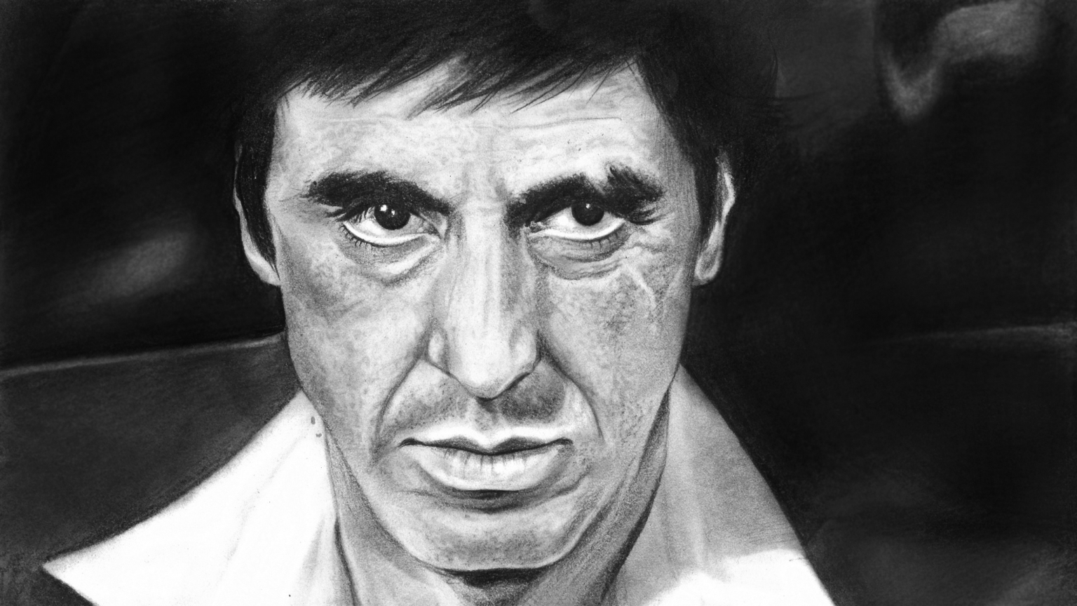 Al Pacino Scarface Fan Art for 1536 x 864 HDTV resolution